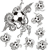 Soccer balls with embellishments Stock Images
