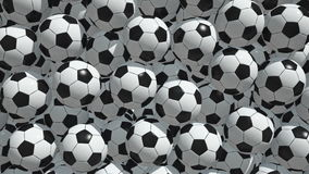 Soccer balls stock footage