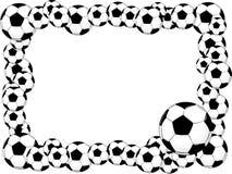 Soccer balls frame Stock Images