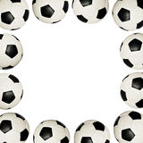 Soccer balls - frame Royalty Free Stock Images