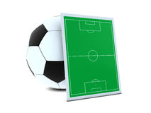 Soccer balls and green field Royalty Free Stock Photography
