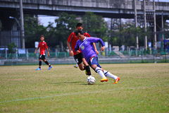 Soccer balls are hurting from socker in thailand Stock Images