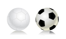 Soccer balls icon set Royalty Free Stock Images