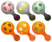 Soccer Balls Logos Set Stock Photos