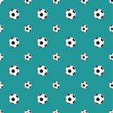 Soccer balls pattern Stock Image