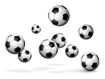 Soccer balls rain Stock Image