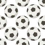 Soccer balls, seamless background Stock Images