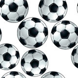 Soccer balls seamless pattern. Stock Photo