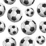 Soccer Balls Seamless pattern. Stock Image
