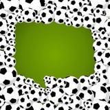 Soccer balls speech bubble shape. Brazil 2014 speech bubble shape of soccer balls world tournament concept illustration. Vector file layered for easy Stock Illustration