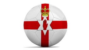 Soccer balls with team flags the European championship stock video