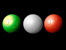 Soccer Balls - Tribute to Italy. An illustration o3 soccer balls with the italian flag's colors vector illustration
