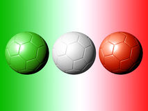 Soccer Balls - Tribute to Italy Stock Photo