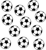 Soccer Balls. Vector sports icon Stock Photography