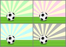 Soccer balls  -cdr format. Soccer balls on vintage pastel background Royalty Free Stock Photography