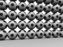 Soccer balls wall Royalty Free Stock Photos