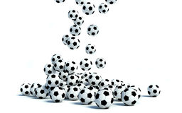 Soccer Balls on white background Royalty Free Stock Photos