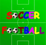 Soccer banner Royalty Free Stock Photos