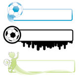 Soccer banner stock illustration