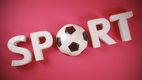 Soccer banner Royalty Free Stock Photo