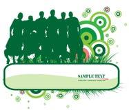 Soccer banner Stock Images