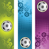 Soccer banner. Vector abstract banner,soccer poster Royalty Free Stock Photography
