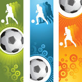 Soccer banner. Vector abstract banner,soccer poster Royalty Free Stock Images