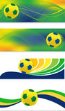 Soccer banner set Royalty Free Stock Image