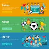Soccer Banner Set Stock Images