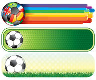 Soccer banners Royalty Free Stock Photo