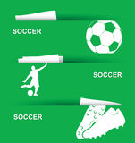 Soccer banners Stock Image
