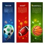 Soccer Banners Set Stock Photo