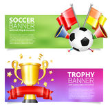 Soccer Banners Stock Photo