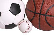 Soccer Baseball Basketball Royalty Free Stock Image