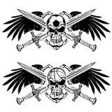 Soccer and basketball shield emblem Stock Image