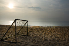 Soccer on the beach Royalty Free Stock Image