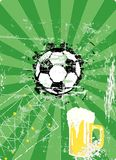 Soccer and beer Royalty Free Stock Photography