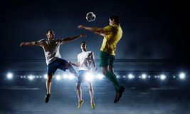 Soccer best moments. Mixed media Royalty Free Stock Photo