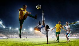 Soccer best moments. Mixed media Royalty Free Stock Photos
