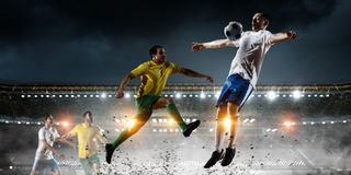 Soccer best moments. Mixed media Stock Image