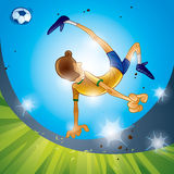Soccer - Bicycle Kick Stock Image
