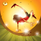 Soccer - Bicycle Kick Royalty Free Stock Photography