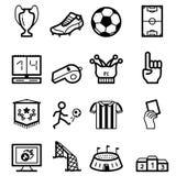 Soccer. Black minimalistic icons set Royalty Free Illustration