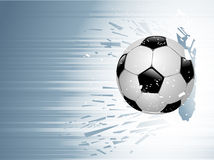 Soccer blow Royalty Free Stock Photo