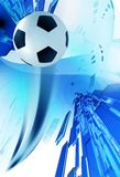 Soccer Blue Background Stock Photography