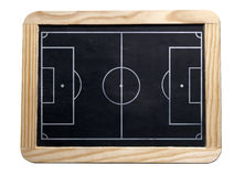 Soccer board. Soccer black board for giving instruction Royalty Free Stock Photo