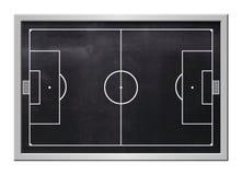Soccer board. Black, steel frame Stock Photography