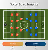 Soccer board template Stock Photography
