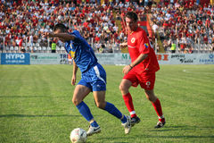 Soccer in Bosnia and Herzegovina. Soccer game in Bosnian premier league royalty free stock image