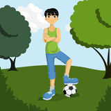 Soccer boy Stock Photos